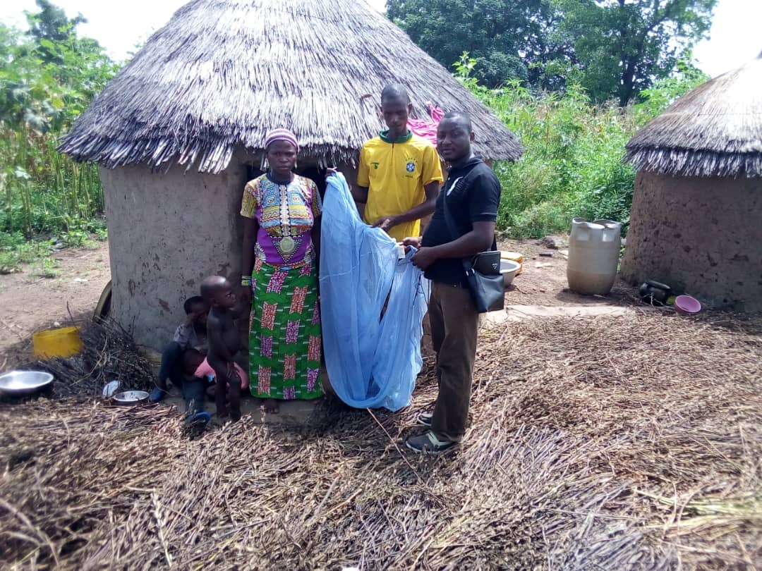 A family with their net