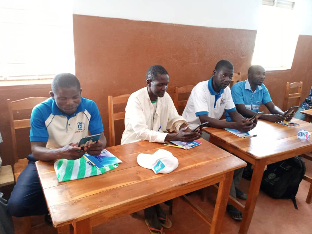 Data collectors attend training and learn the data collection tool