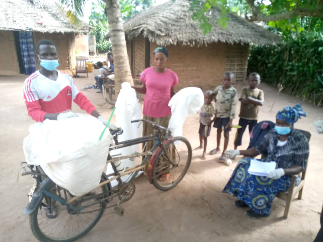 DRC - Nets being distributed the final mile on bikes